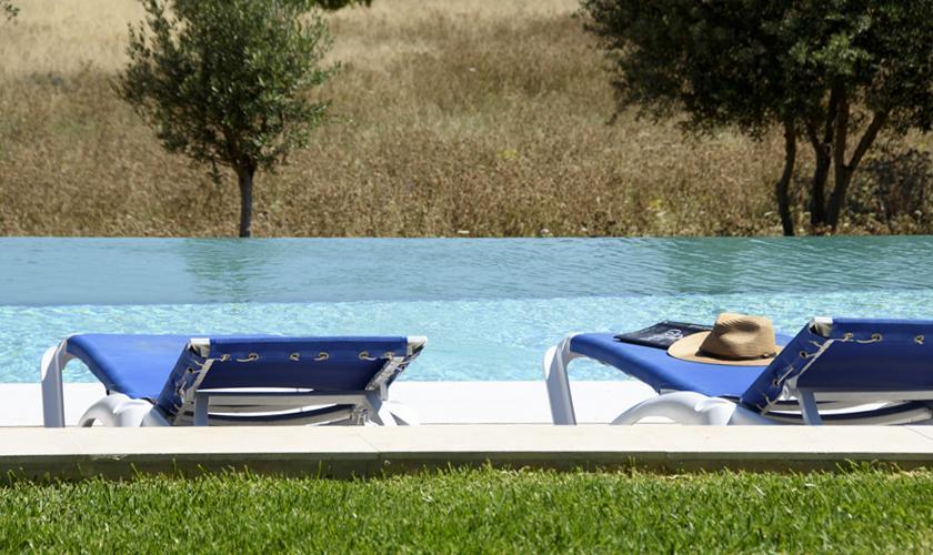 Pool und Blick Finca Mallorca PM 3410