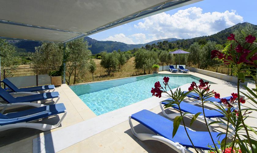 Pool und Liegen Finca Mallorca PM 3410