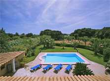 Blick auf den Pool der Finca Mallorca Norden PM 3411