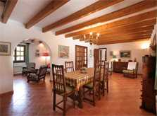 Wohnraum Finca Mallorca Norden für 6 Personen PM 3411