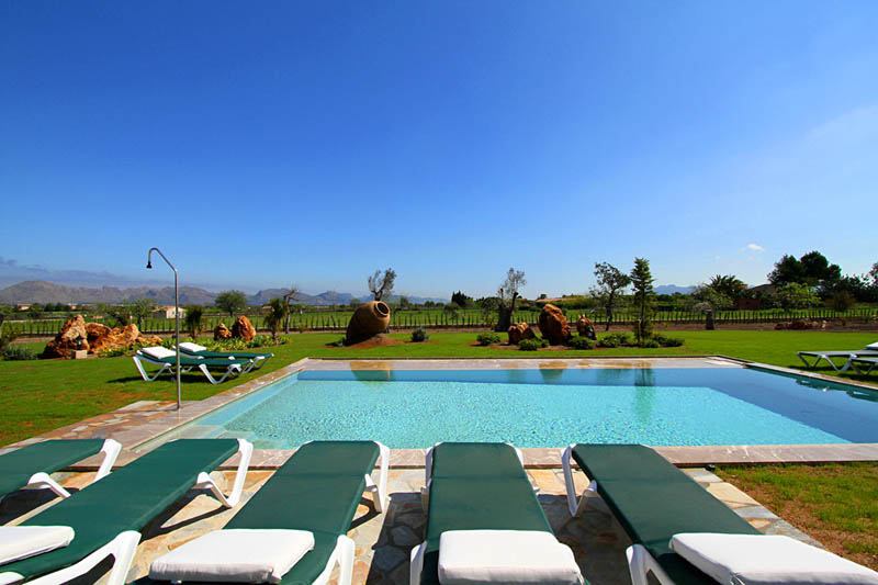 Pool Exklusive Finca Mallorca Norden für 10 Personen PM 3412