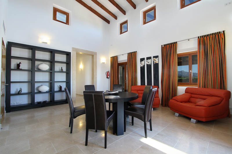 Wohnraum Ferienvilla Mallorca Norden für 10 Personen PM 3412
