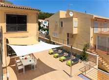 Terrasse Ferienvilla Strandnähe Mallorca Nordküste PM 3417