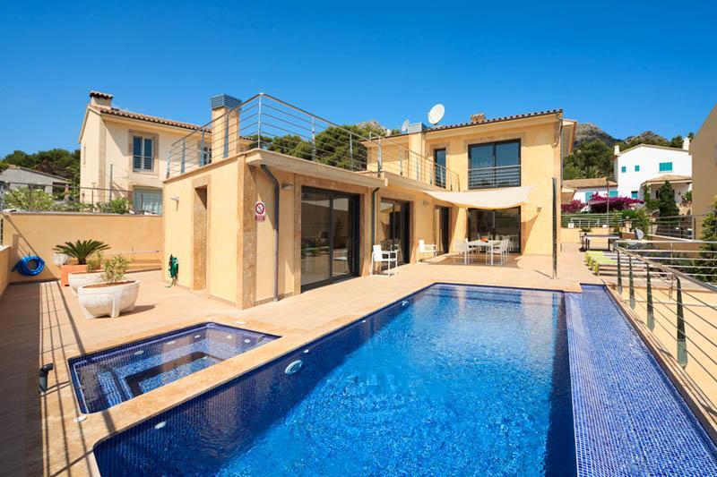 Pool und Ferienvilla Mallorca Nordküste PM 3417