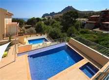 Terrasse der Poolvilla Mallorca Nordküste PM 3417