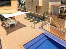 Terrasse mit Pool der Villa Mallorca PM 3417 Nordküste