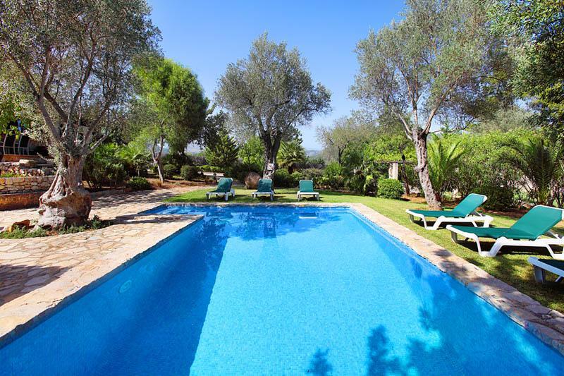 Pool der Finca Mallorca PM 3418 für 6-7 Personen
