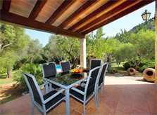 Terrasse mit Essplatz Finca  Mallorca Norden PM 3418
