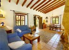 Wohnraum Ferienhaus Mallorca Norden PM 3418