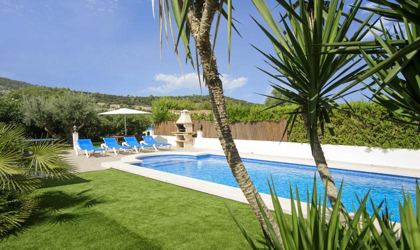 Pool und Garten Ferienhaus Mallorca Norden PM 3427