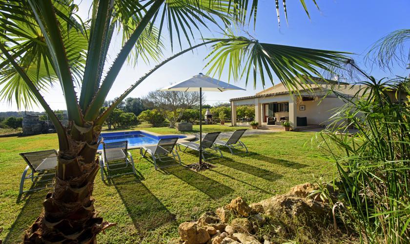 Pool und Garten Finca Mallorca für 4 Personen PM 3428