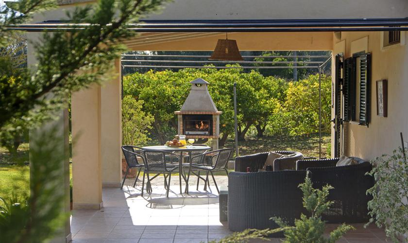 Terrasse Finca Mallorca mit Pool PM 3428
