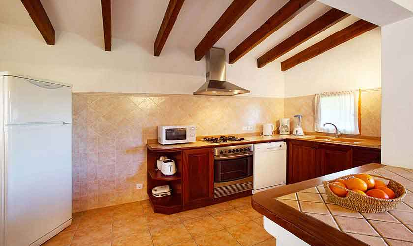 Küche Ferienfinca Mallorca Norden PM 3429