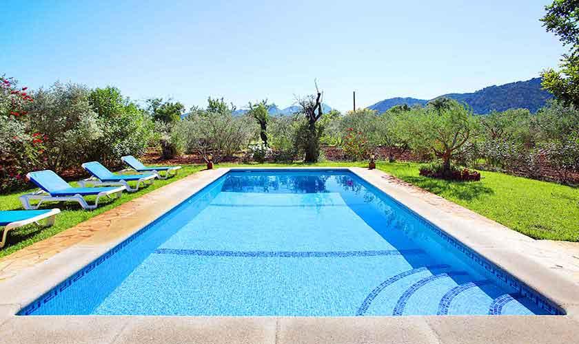 Poolblick Finca Mallorca für 6 Personen PM 3429