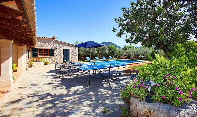 Tischtenis Ferienhaus Mallorca Norden PM 3429