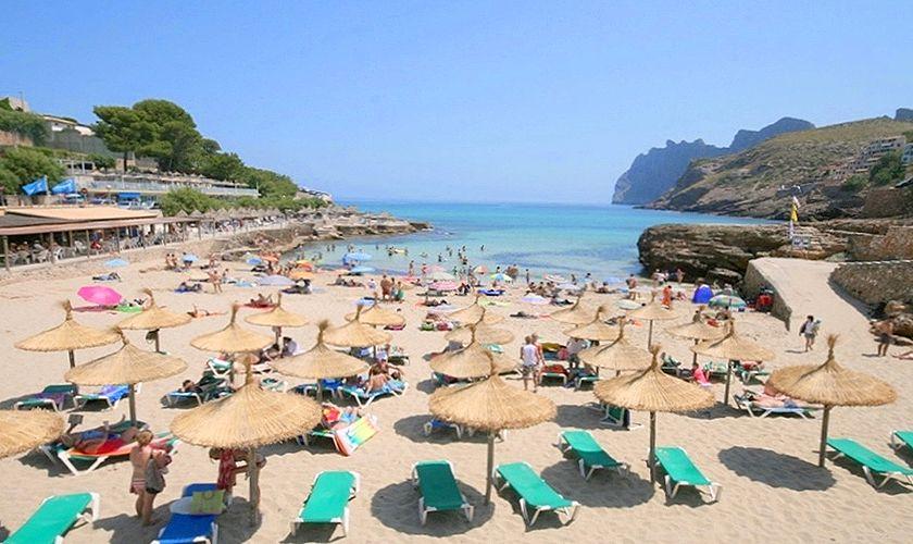 Blick auf die Bucht Ferienhaus Mallorca PM 3489