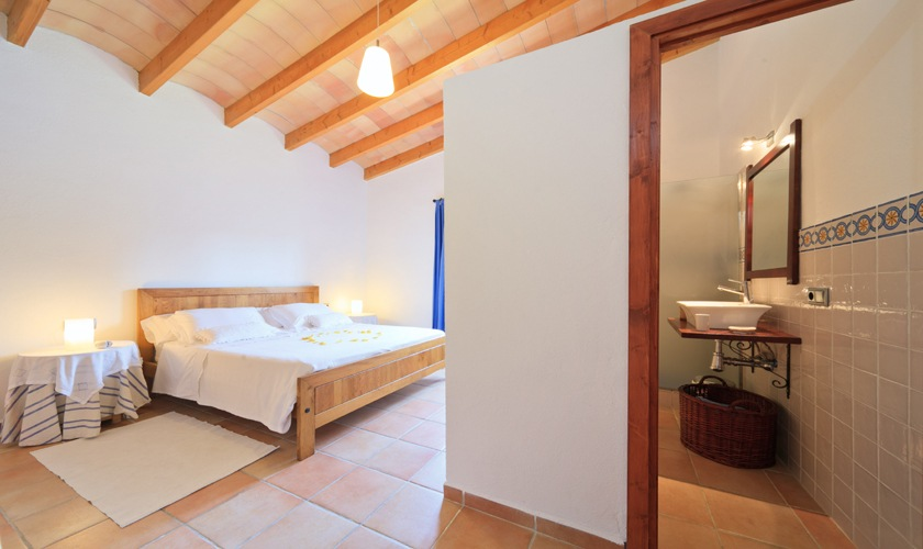 Schlafzimmer Ferienfinca Mallorca 4 Personen PM 3506