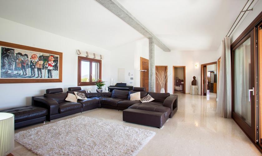 Wohnraum Ferienvilla Mallorca Norden PM 3507