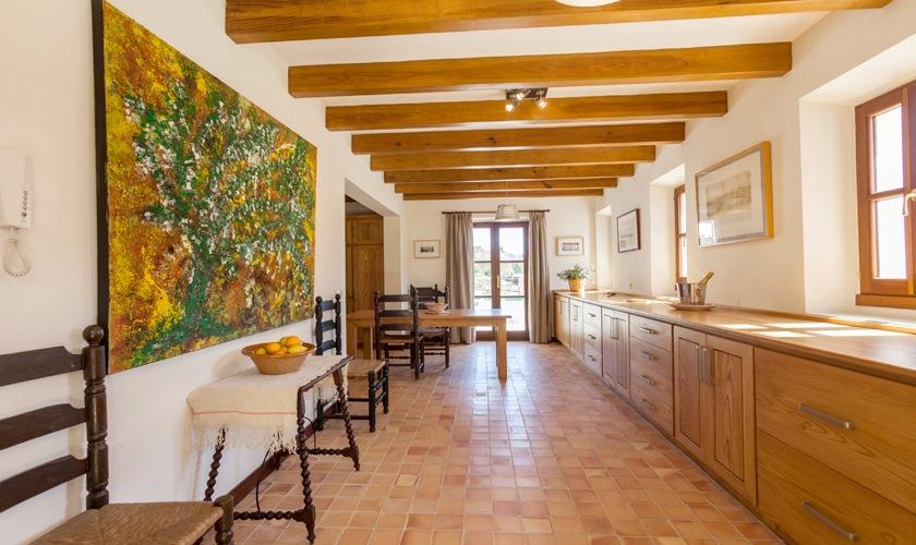 Küche Finca Mallorca Nordküste PM 3508