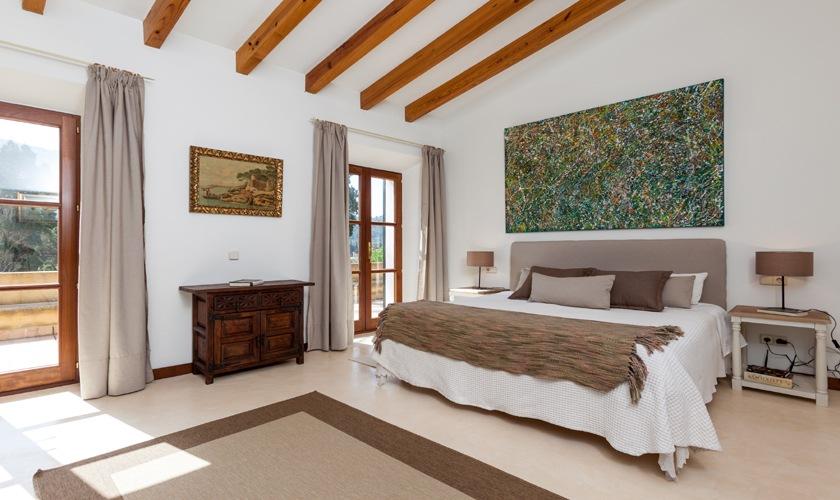Schlafzimmer Ferienfinca Mallorca Nordküste PM 3508