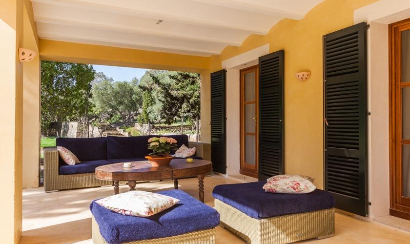 Terrasse Finca Mallorca Nordküste PM 3508