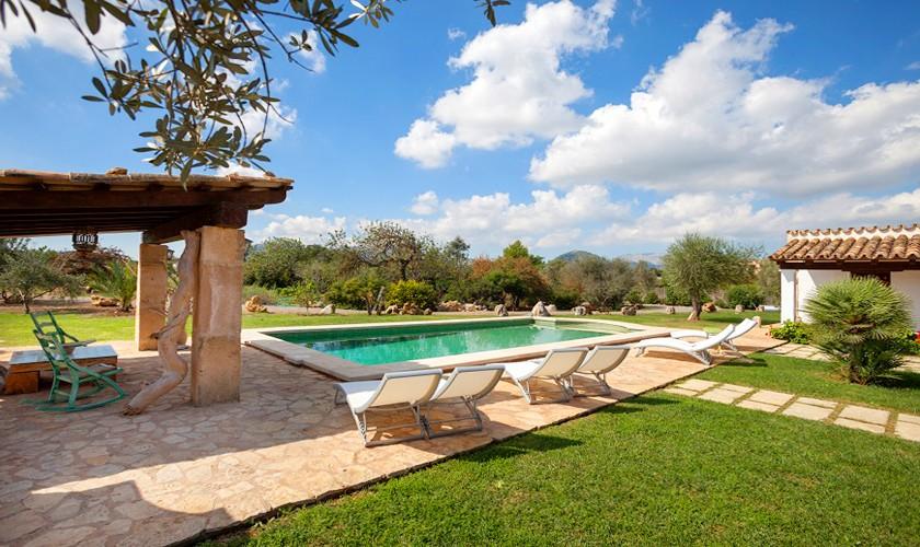 Pool der Finca Mallorca Norden Pm 3509