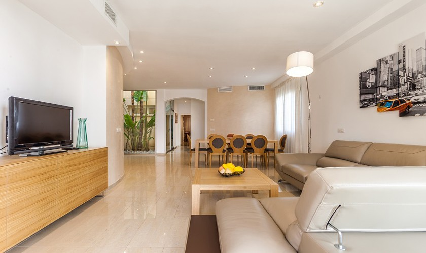 Wohnraum Ferienhaus Mallorca Strandnähe PM 3513