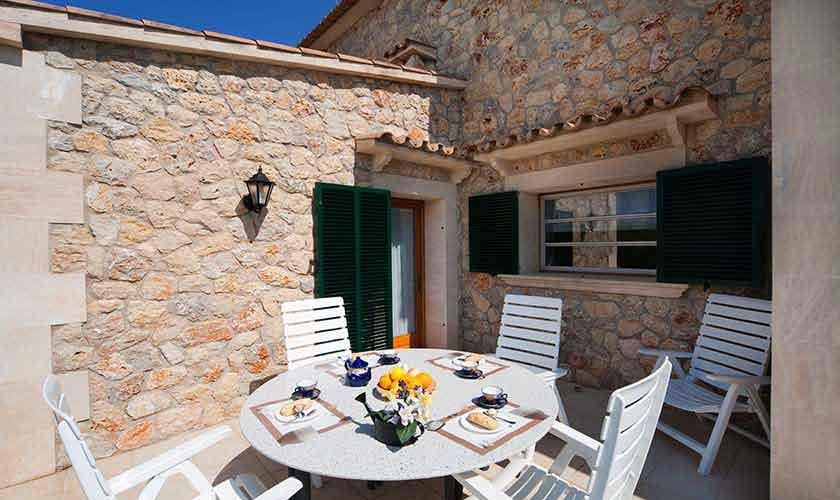 Terrasse oben Finca Mallorca 10 Personen PM 3514