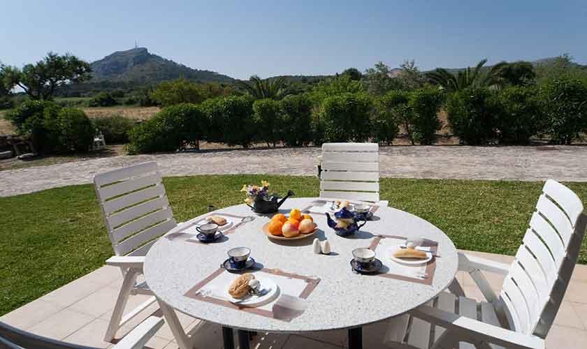 Terrasse Finca Mallorca 10 Personen PM 3514