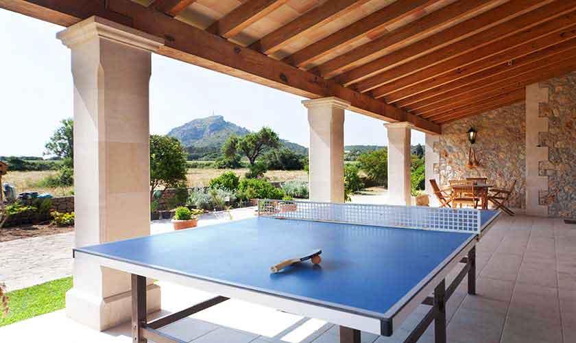 Tischtennis Finca Mallorca 10 Personen PM 3514