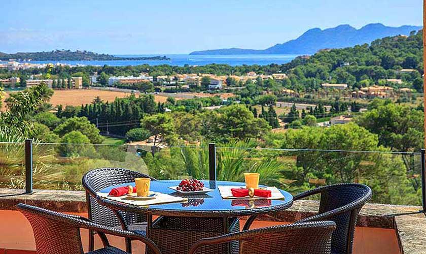 Terrasse und Meerblick Villa Mallorca PM 3516