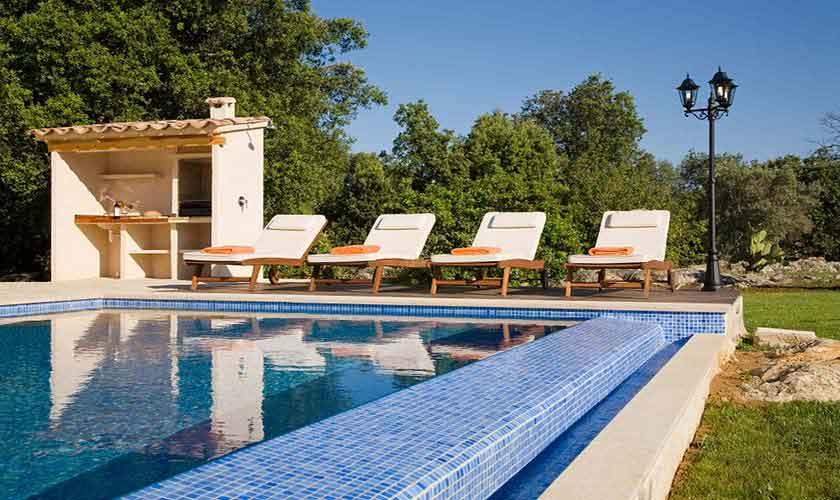 Pool und Grillplatz Finca Mallorca für 4 Personen PM 3518