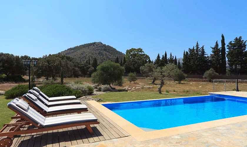 Pool und Blick Finca Mallorca für 4 Personen PM 3518