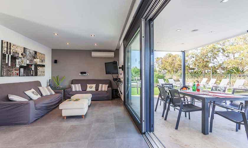 Wohnraum Ferienvilla Mallorca Nordküste PM 3519