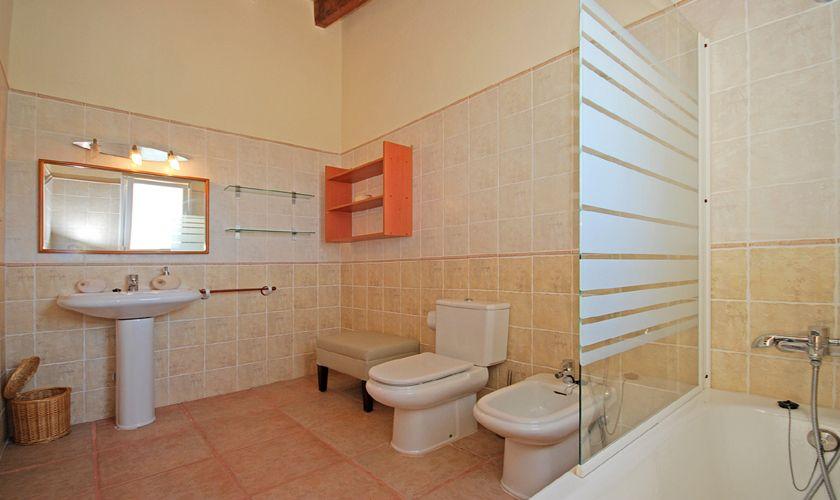 Badezimmer Finca mit Pool Benissalem Mallorca 3708