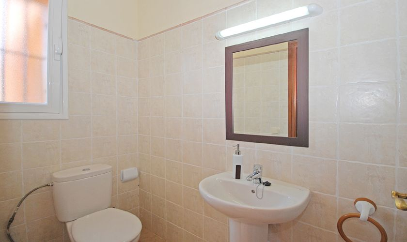 WC Ferienhaus Mallorca Pool Klimaanlage 6-9 Personen PM 3708