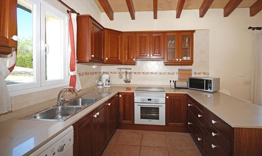 Küche Ferienhaus Pool Klimaanlage Internet Norden Mallorca PM 3708