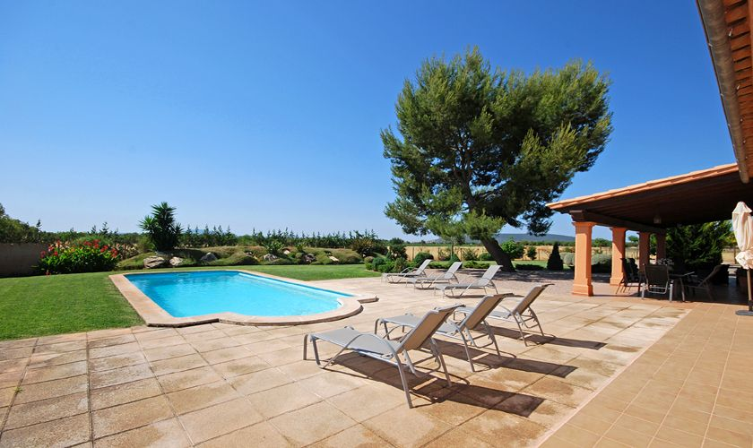 Sonnenterrasse Garten Pool Finca Mallorca 9 Personen PM 3708