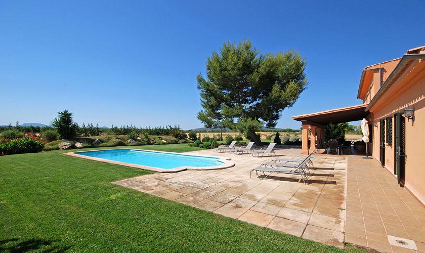 Garten Ferienhaus mit großem Pool Benissalem Mallorca 3708