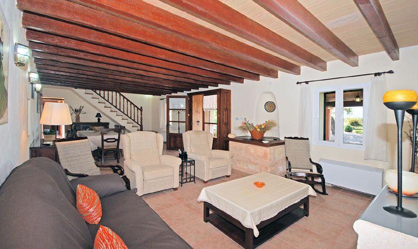 Wohnzimmer Finca mit Pool WLAN Aircondition PM 3708