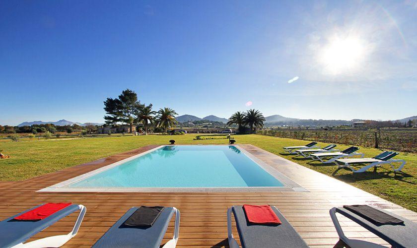 Pool und Blick Exklusive Finca Mallorca Norden PM 370
