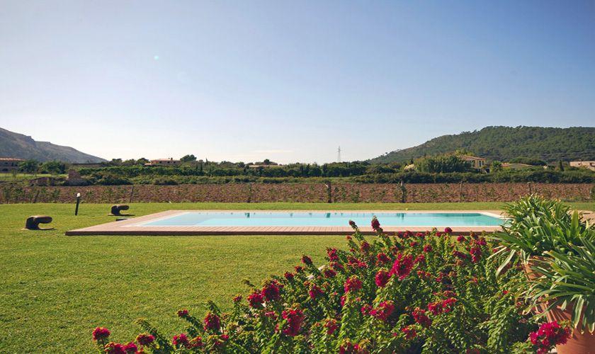 Poolblick Ferienvilla  Mallorca Norden PM 370