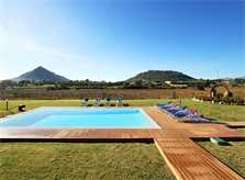 Pool und Blick Ferienvilla Mallorca Norden PM 370