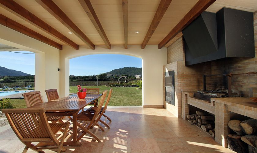 Aussenküche Ferienvilla Mallorca Norden PM 370