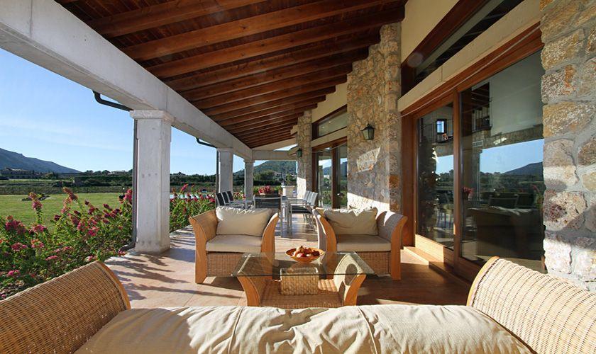 Terrasse Ferienvilla Mallorca Norden PM 370