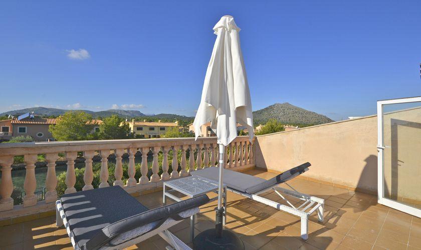 Dachterrasse Ferienhaus Mallorca Nordküste PM 3714
