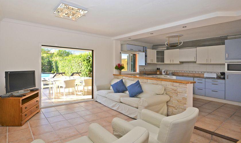 Wohnraum Ferienhaus Mallorca Nordküste PM 3714