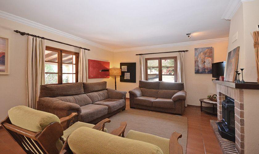 Wohnraum Ferienfinca Mallorca PM 3716