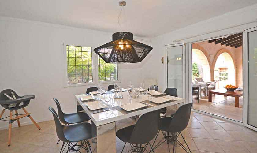 Essplatz Ferienhaus Mallorca mit Pool PM 3720