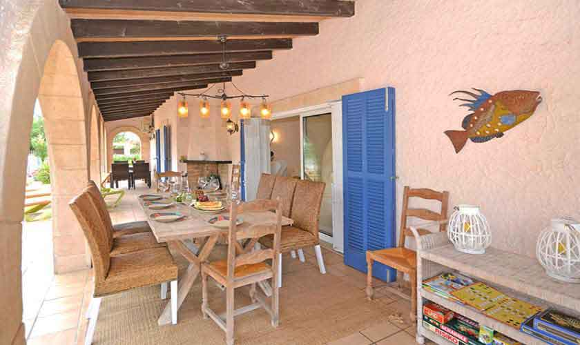 Terrasse Ferienhaus Mallorca mit Pool PM 3720